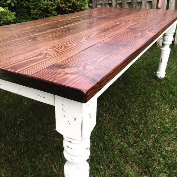 Custom Farmhouse Tables by BrushwoodCustom on Etsy