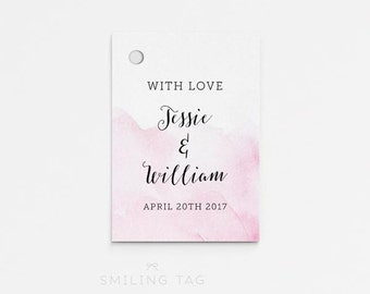 Printable Wedding Favor Tags Printable Favor Tags Wedding Gift Tags - Bridal Shower Favors- Letter or A4 Size (Item code: P747)
