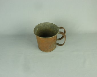 Vintage Two Handled Copper Pass Cup