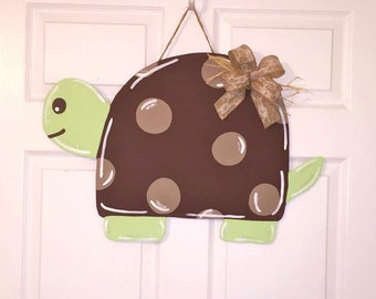Door Hanger - Wood Cut Out - Turtle. This adorable Turtle can be changed to better meet your style!