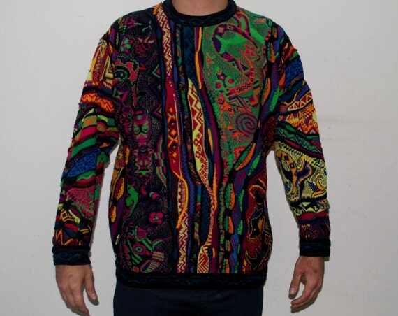Vintage Multicolored Mens Sweater 113