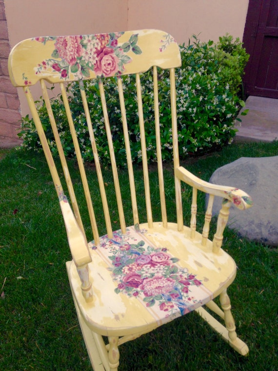 Wooden Rocking Chair - Shabby Chic