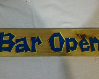 Bar  open sign