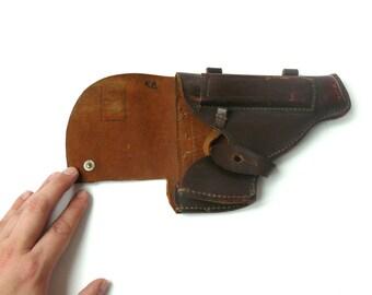 Western Gun Holster Jackass Leather Belt Holster USSR military holster police accessories brown gun holster brown belt holster Revolver