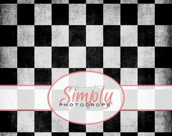 CHECKARD GRUNGE vinyl Photography Backdrop