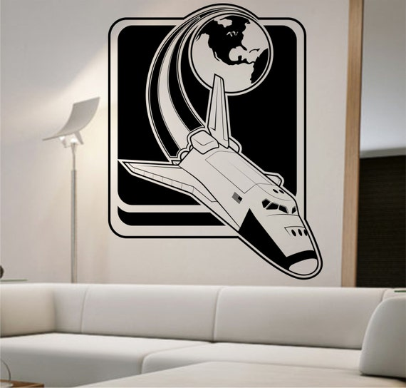 Space Shuttle Vinyl Wall Decal VERSION 2 Sticker Art Decor