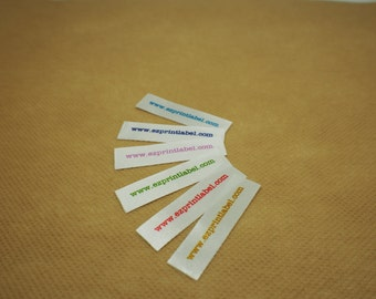 50pcs bleach and wash proof Custom Clothing Labels personalized your text only sewing labels printed on satin fabric