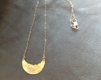 Brass Crescent Necklace