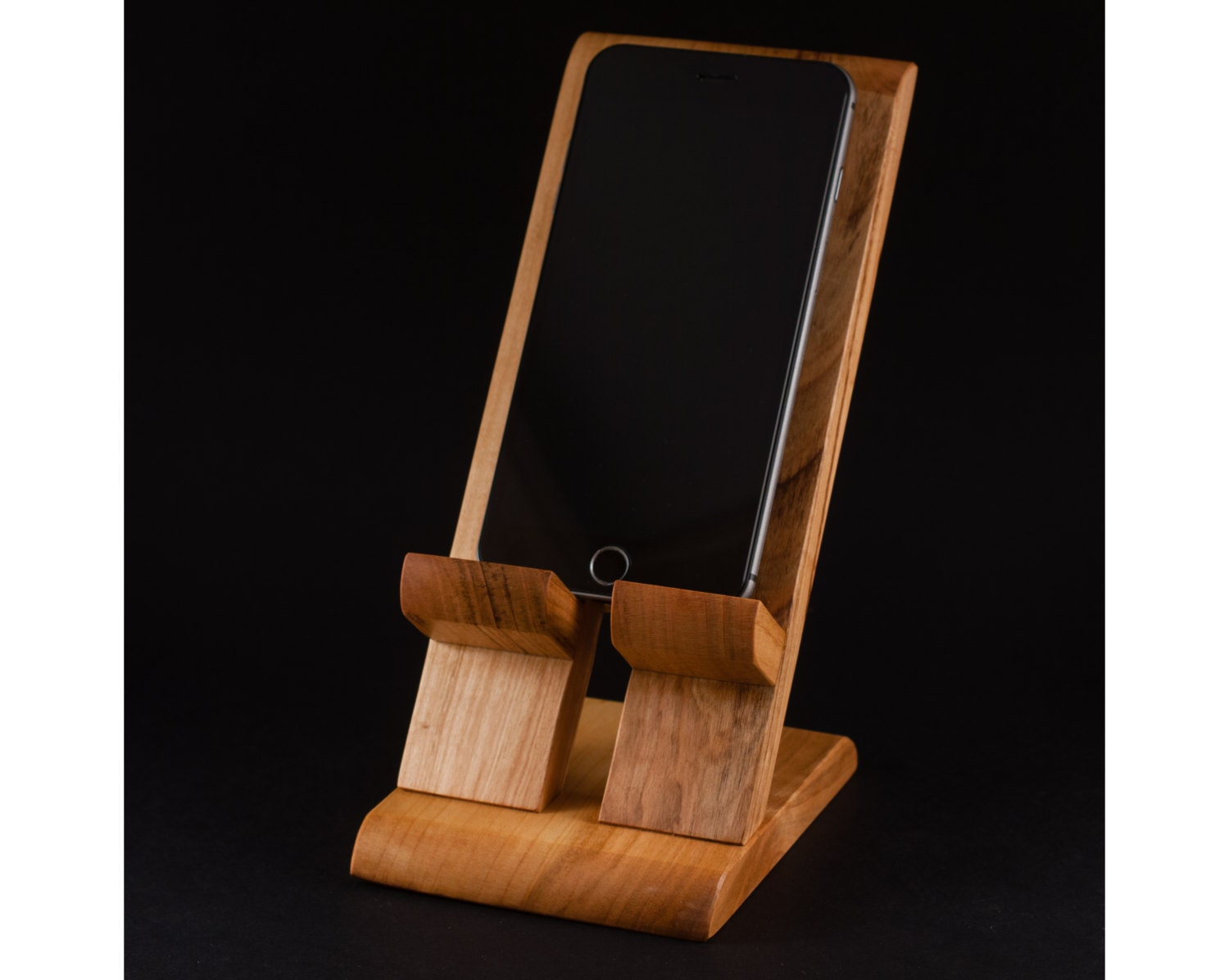 Handmade wooden iphone plus stand charging station