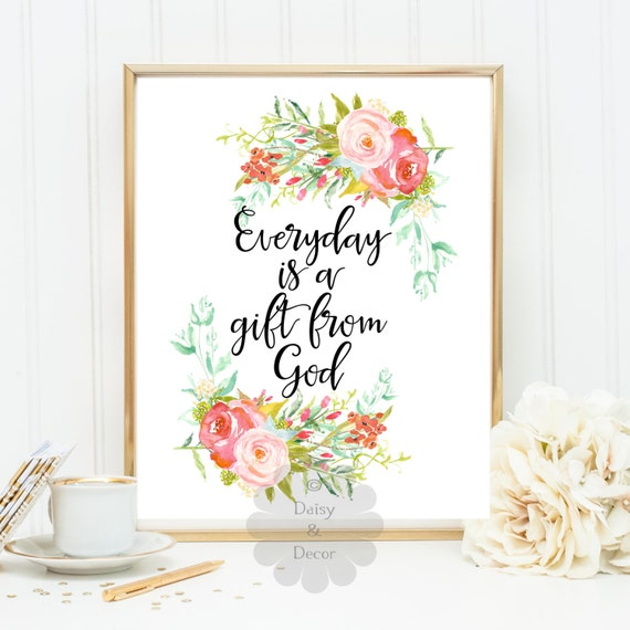 Baby Gift God Bible Verse : Items similar to everyday is a gift from god verse quote
