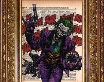 The Joker HAHA Print