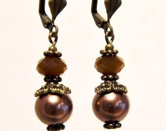 Coffee and chocolate earrings