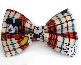 Mickey Bow Tie | Bow Tie for Men | For Him | Self Tie | Dog Bow Tie | Mens Bow Tie | Boys Bow Tie | Disney Bow Tie | Wedding Bow Men