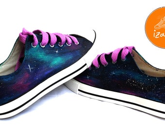 Galaxy Sneakers, Sneakers, Hand Painted sneakers, dog shoes, Hand Painted, canvas shoes, trainers, hand painted shoes, low tops, dogs