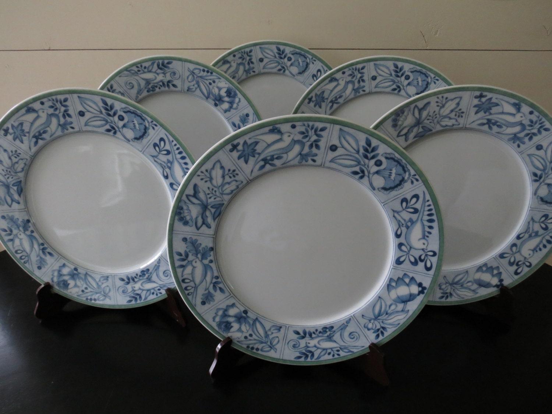 Set of 6 villeroy boch cordoba plates porcelain plates for Villeroy and boch plates