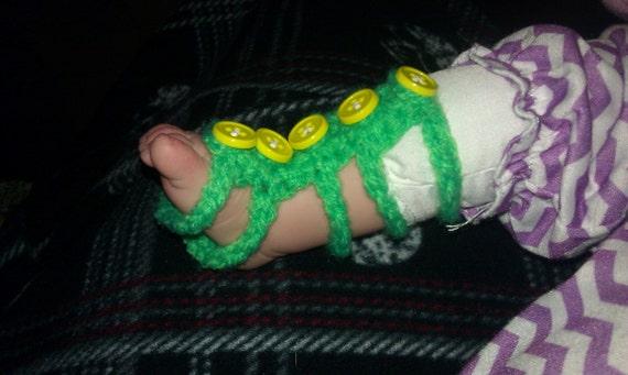 Crochet barefoot gladiator sandals
