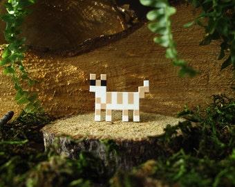Tabby Pixelpet standing cat brooch