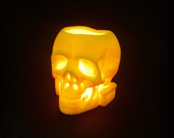 Vanitas, a wax candle holder