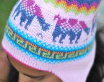 Double sided Alpaca Hat