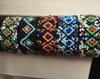 5 stretch Bracelets,Native American Bracelet, Seed Bead Bracelet, Indina Bracelet, Multicolor Bracelet, Handmade Bracelet, Seed Bead Jewelry