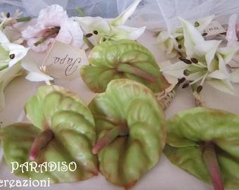 Artificial flower, boutonniere clay, wedding decoration, Anthurium