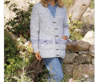 womens cardigan chunky knitting pattern 99p pdf