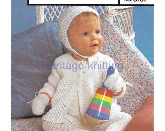 baby girls pram set quick knit knitting pattern 99p pdf