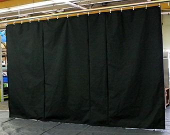 Black Stage Curtain/Backdrop/Partition, 12'H x 11'W, Non-FR, Free Shipping, Custom Sizes Available!