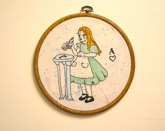 Alice In Wonderland Embroidery Hoop