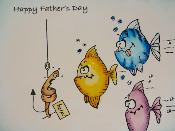 Funny birthday card to dad funny fish gone fishing for Father s day fishing card