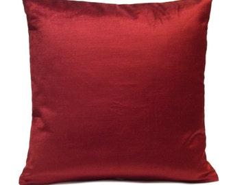 Deep Red Pillow, Throw Pillow Cover, Decorative Pillow Cover, Cushion Cover, Pillowcase, Accent Pillow, Toss Pillow, Velvet Pillow, Modern
