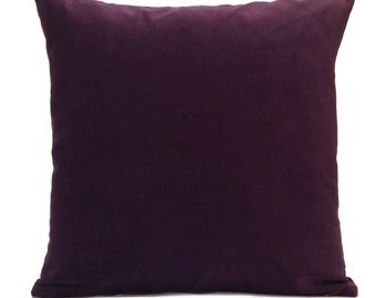 Dark Purple (Plum) Pillow, Throw Pillow Cover, Decorative Pillow Cover,  Cushion