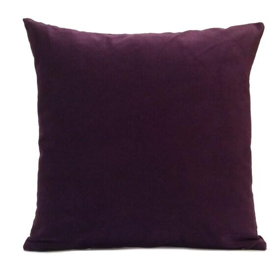 Dark Purple Plum Pillow Throw Pillow Cover Decorative