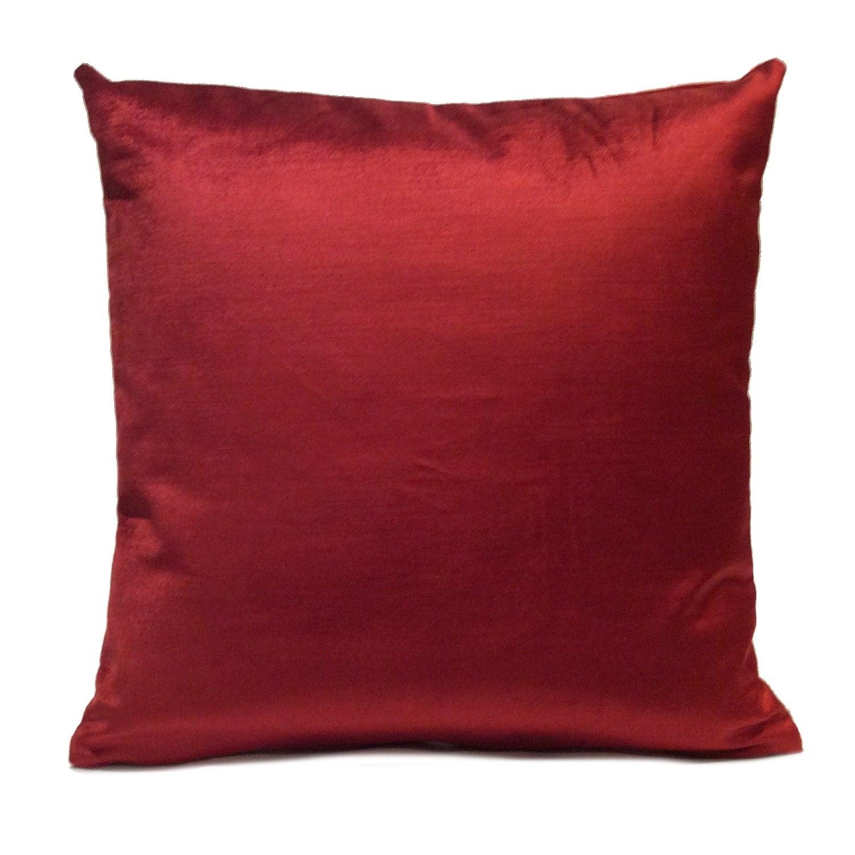Deep Red Pillow Throw Pillow Cover Decorative Pillow Cover