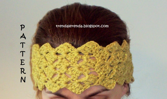 Crochet Hair Ribbon Pattern : ... crochet / Crochet headband/Tutorial / headband / hair tape / Ribbon
