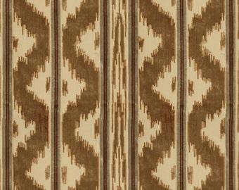BRUNSCHWIG & FILS CHINOISERIE Zhen Cut Velvet Fabric 5 Yards Topaz Cream