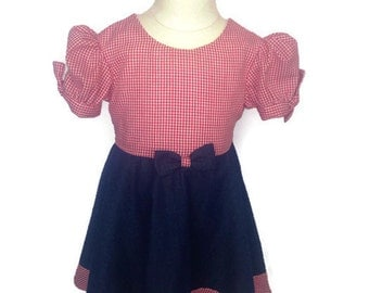 Cow Girl Dress  - Size 9-12 month