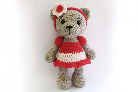 Amigurumi Baby Shower Bears : PATTERN : Bear teddy Bear Girl-Amigurumi bear