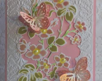 Birthday, Elegant Handmade Greeting Card