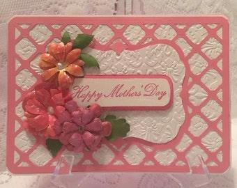 Mother's Day greeting card, Elegant Handmade