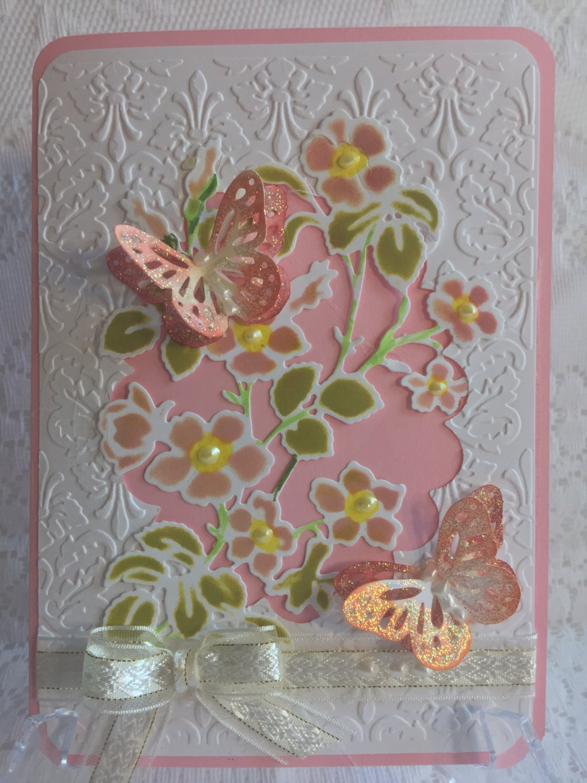 Birthday elegant handmade greeting card beautiful for Elegant homemade christmas cards