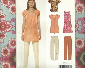 New Look 6785 Misses Tunic and Pants Pattern Size A 6-16 Complete & Uncut