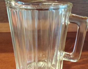 Heavy Pressed Glass 32 Ounce Milk Pitcher
