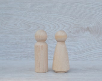 Wooden peg doll blanks
