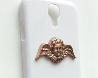 Cherub iPhone 6 Cases White iPhone Case iPhone5 Case Steampunk iPhone Cases iPhone4s Case Samsung GalaxyS3 Case Samsung GalaxyS4 Phone Cases
