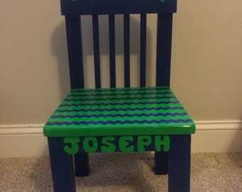 Kids time out chair with timer and personalized