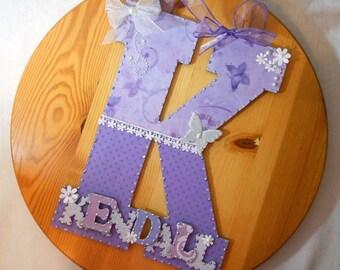 Custom Nursery Letters, Nursery Art, Baby Nursery Decor, Baby Room Decor, Custom Letters, Wall Letter, Custom Wood Letters, Wood Letters