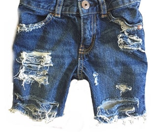 Boys Distressed Denim Cutoffs