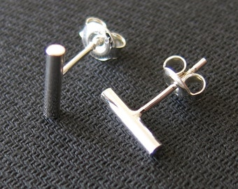Earstuds, simple bars, Sterling Silver