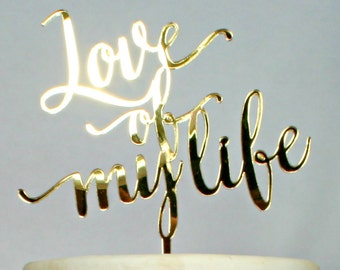 Carolyna Calligraphy Name Cake Topper